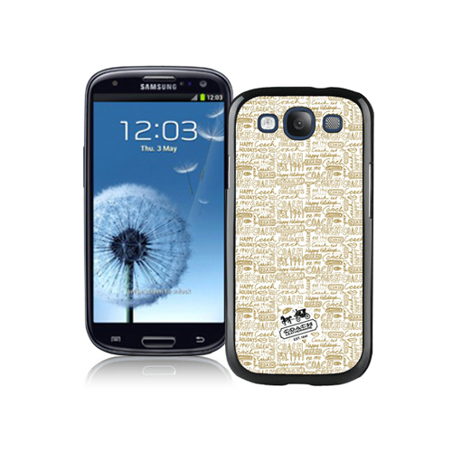 Coach Fashion Logo Khaki Samsung Galaxy S3 9300 BHC