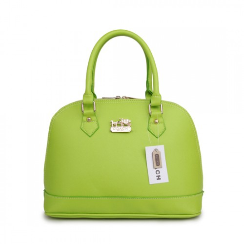 Coach City In Logo Medium Green Satchels BHY