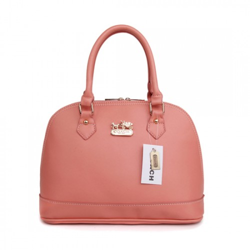 Coach City In Logo Medium Pink Satchels BIC