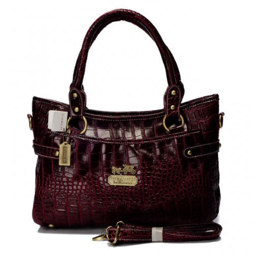 Coach In Embossed Medium Red Satchels BIZ