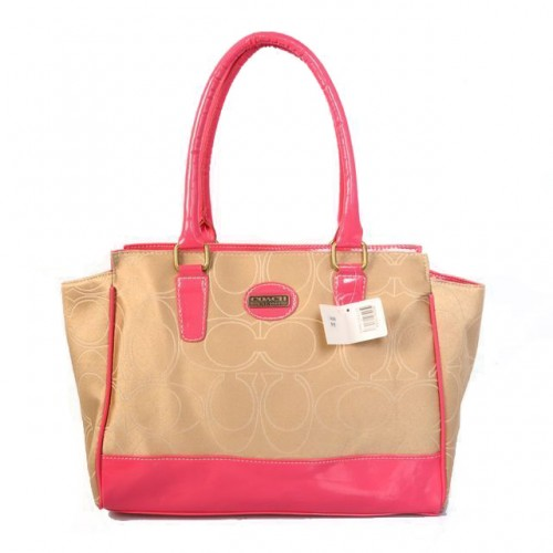 Coach Candace In Signature Medium Pink Satchels BJN