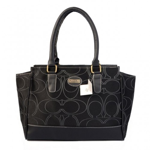 Coach Candace In Signature Medium Black Satchels BJO
