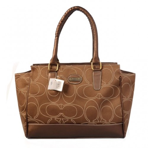Coach Candace In Signature Medium Camel Satchels BJP