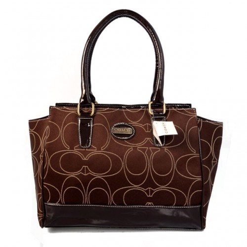 Coach Candace In Signature Medium Coffee Satchels BJQ