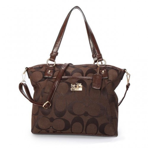 Coach Logo Monogram Medium Coffee Totes BJY
