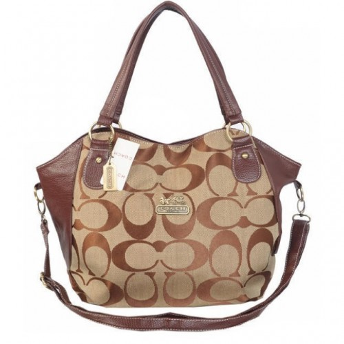 Coach Logo In Signature Small Coffee Totes BKQ