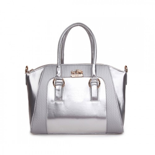 Coach In Logo Medium Silver Satchels BLG