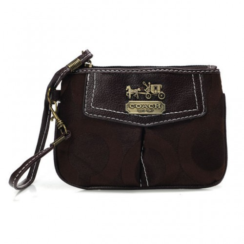 Coach Madison In Signature Small Coffee Wristlets BLI