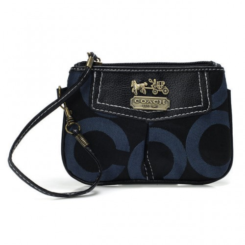 Coach Madison In Signature Small Blue Wristlets BLJ
