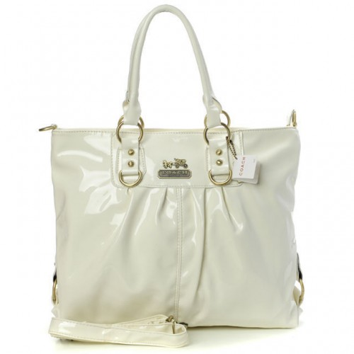 Coach In Smooth Medium White Satchels BMD