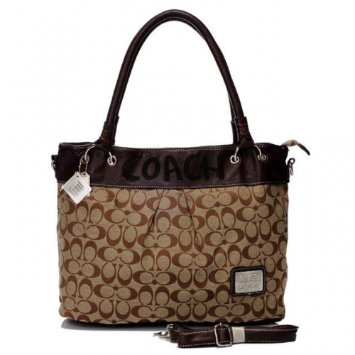 Coach Logo Monogram Large Coffee Totes BME