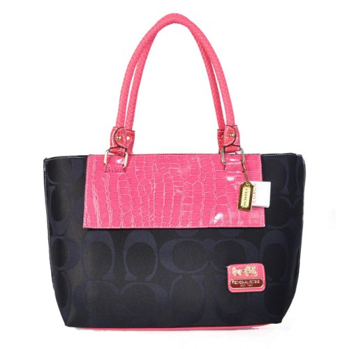 Coach Embossed In Signature Medium Pink Totes BMR