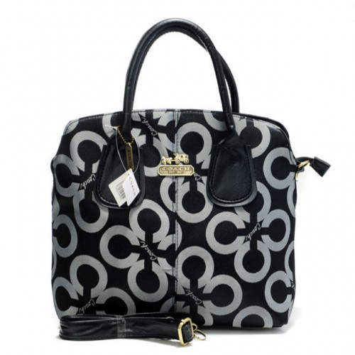 Coach Logo In Signature Medium Grey Totes BMW