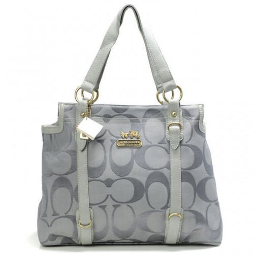 Coach Logo Monogram Large Grey Totes BNA