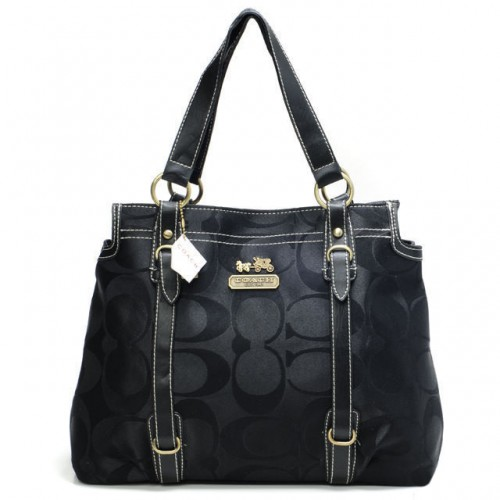 Coach Logo Monogram Large Black Totes BNB