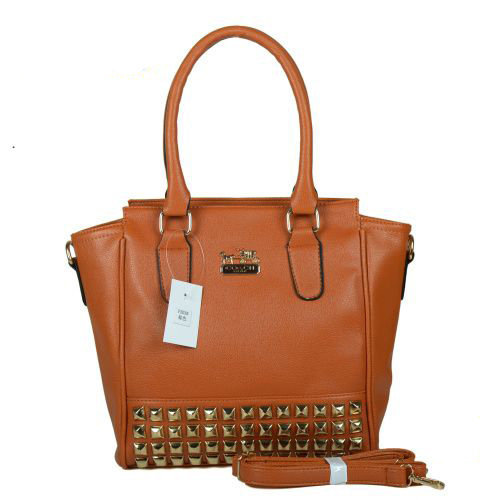 Coach Legacy Tanner In Studded Small Tan Crossbody Bags BNL