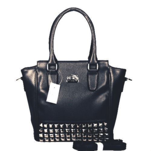 Coach Legacy Tanner In Studded Small Black Crossbody Bags BNM