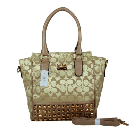 Coach Legacy Tanner In Studded Signature Small Khaki Crossbody B