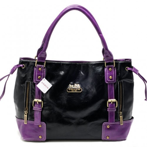 Coach Smooth Logo Medium Purple Satchels BNX