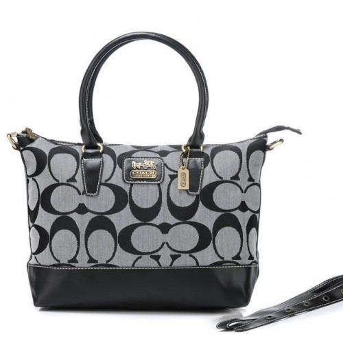 Coach Logo In Monogram Medium Grey Totes BOA