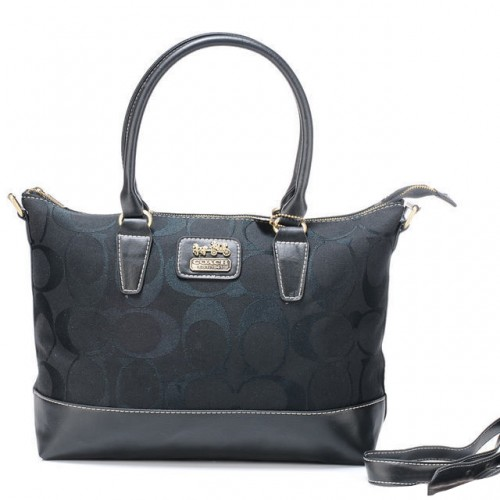 Coach Logo In Monogram Medium Grey Totes BOB