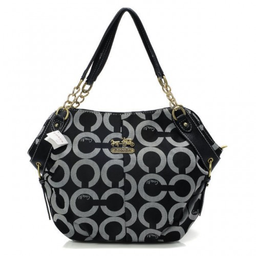 Coach Chelsea In Signature Small Black Totes BOP