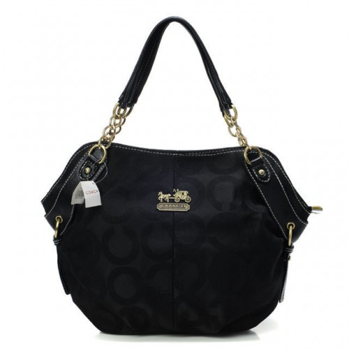 Coach Chelsea In Signature Small Black Totes BOQ