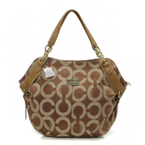 Coach Chelsea In Signature Small Khaki Totes BOR