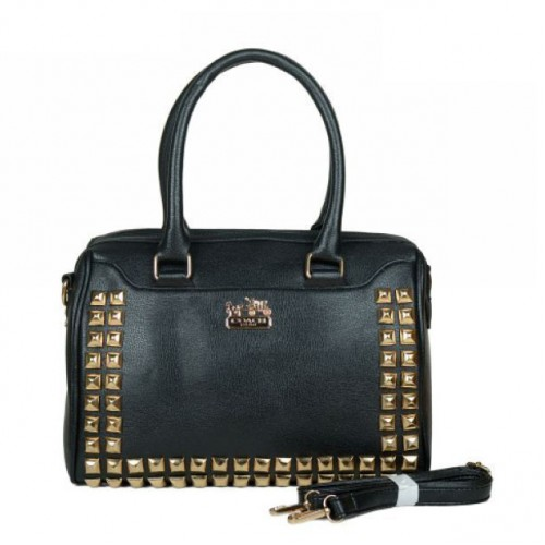 Coach Legacy Legacy Haley In Stud Medium Black Satchels BPC