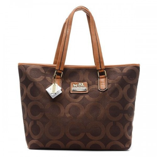 Coach Legacy Legacy Signature Large Coffee Totes BQJ