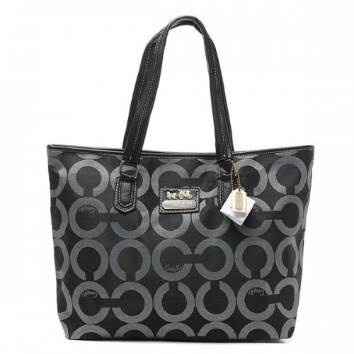 Coach Legacy Legacy Signature Large Black Totes BQK