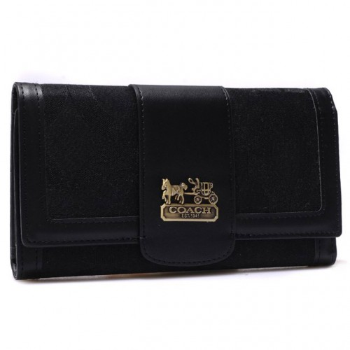 Coach Legacy Legacy Slim Envelope Large Black Wallets BRP