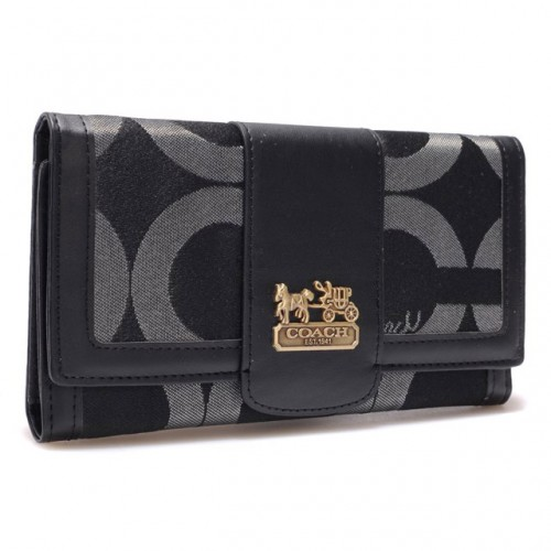 Coach Legacy Legacy Slim Envelope Large Black Wallets BRS