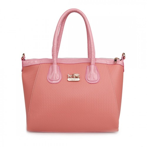 Coach City Signature Medium Pink Satchels BSM
