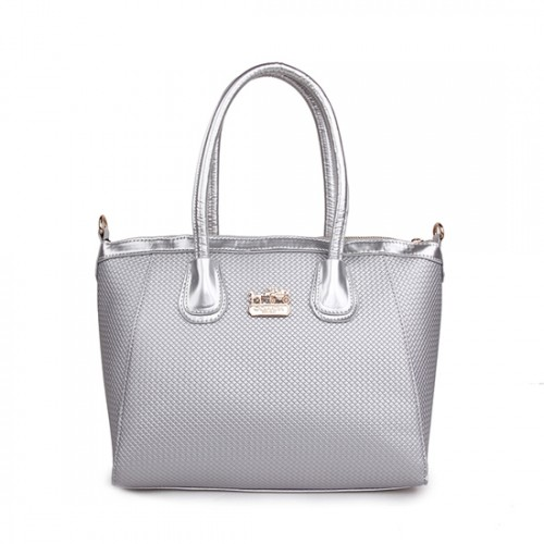 Coach City Signature Medium Silver Satchels BSN