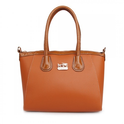 Coach City Signature Medium Tan Satchels BSO