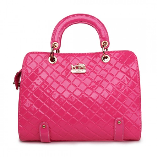 Coach Rhombus Medium Pink Satchels BSP