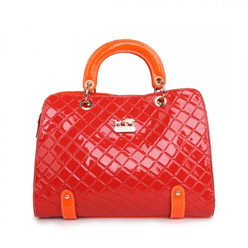 Coach Rhombus Medium Red Satchels BSQ