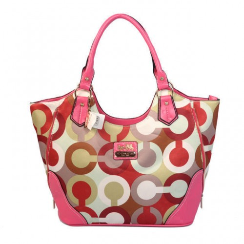 Coach Fashion Signature Medium Pink Totes BST