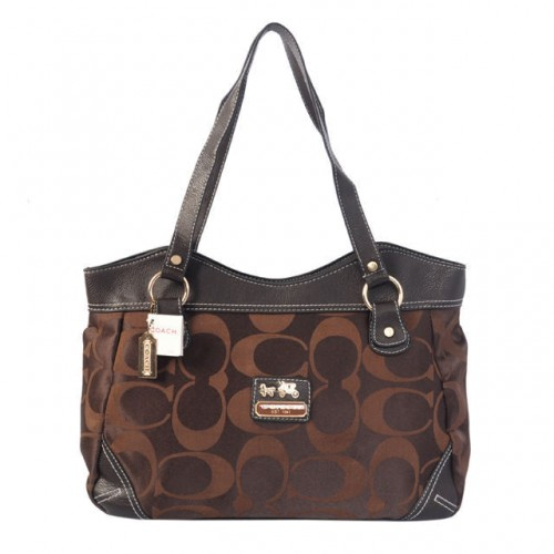 Coach Logo Signature Medium Coffee Totes BTN