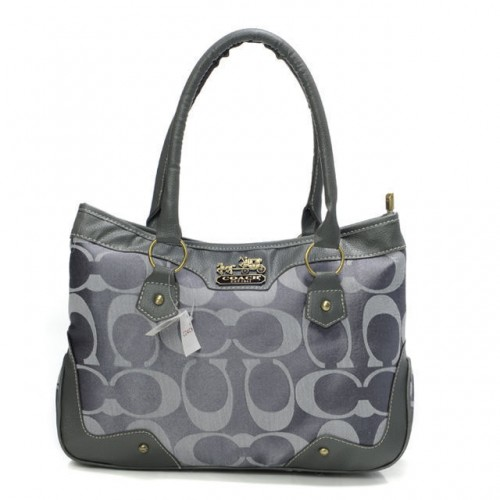 Coach Fashion Signature Medium Grey Satchels BTZ