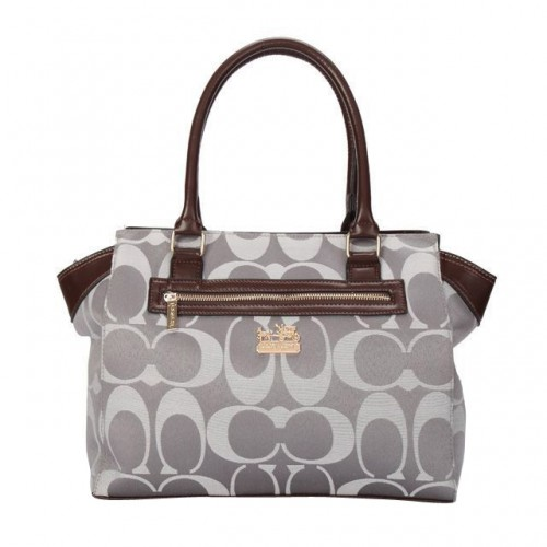 Coach Bleecker In Signature Medium Grey Satchels BUQ