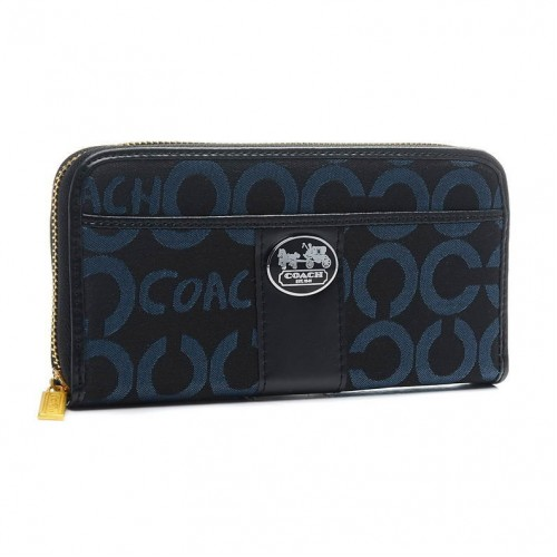 Coach Legacy In Signature Large Navy Wallets BVT