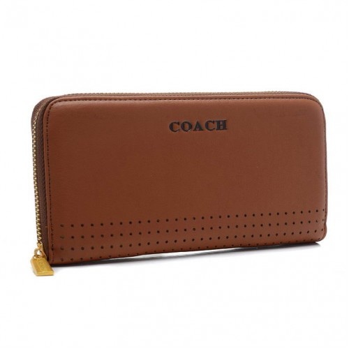 Coach Madison Perforated Large Brown Wallets BVV