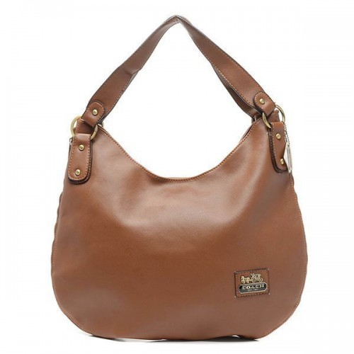 Coach City Logo Large Brown Hobo BWC