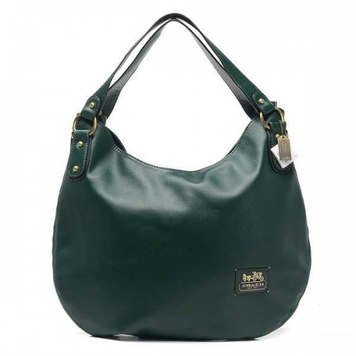 Coach City Logo Large Green Hobo BWD