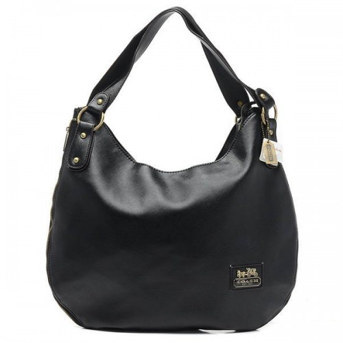 Coach City Logo Large Black Hobo BWF