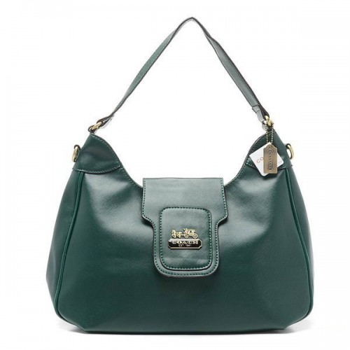 Coach Flap Logo Large Green Hobo BWG