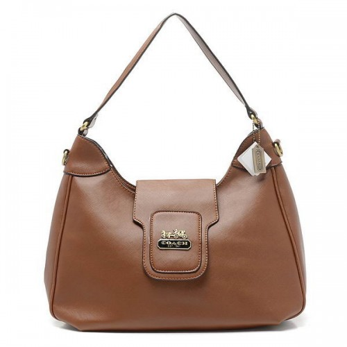 Coach Flap Logo Large Brown Hobo BWJ