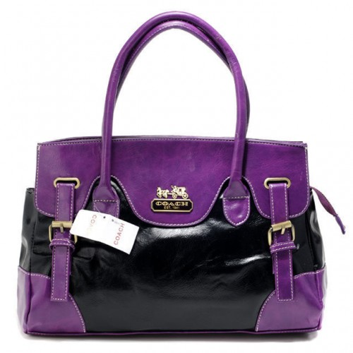 Coach East West Large Purple Satchels BXG